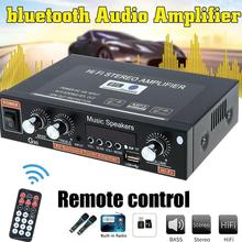 EU 12V/220V 800W 2 CH bluetooth Mini HiFi Stereo Amplifier USB SD FM Radio Power Stereo Hom