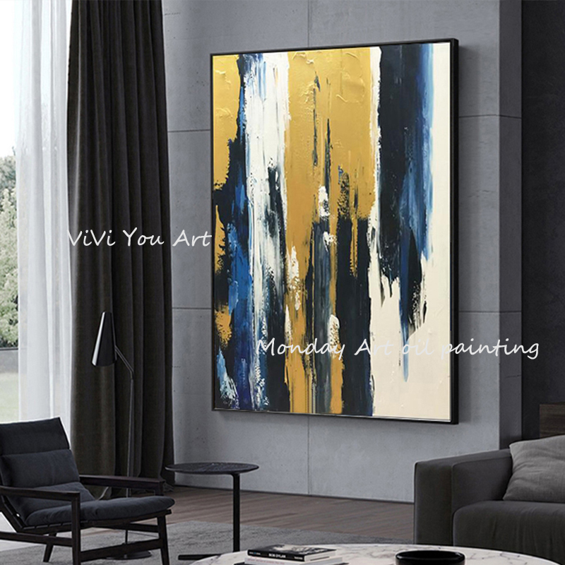 100-Hand-Painted-Abstract-Golden-Art-Oil-Painting-On-Canvas-Wall-Art-Wall-Adornment-Pictures-Painting (7)