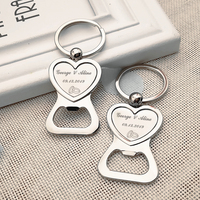 Personalized wedding gift for the guests love bottle opener keychain personalized wedding party gift gift transparent bag 100pc