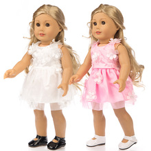 2021 Cute Princess Dress New Born Baby Doll Clothes for 18