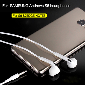 цена на 3.5mm Stereo Music Earphones Portable Earphone Wired In-Ear Headset no bluetooth with Microphone for Samsung S6/ S6 Edge