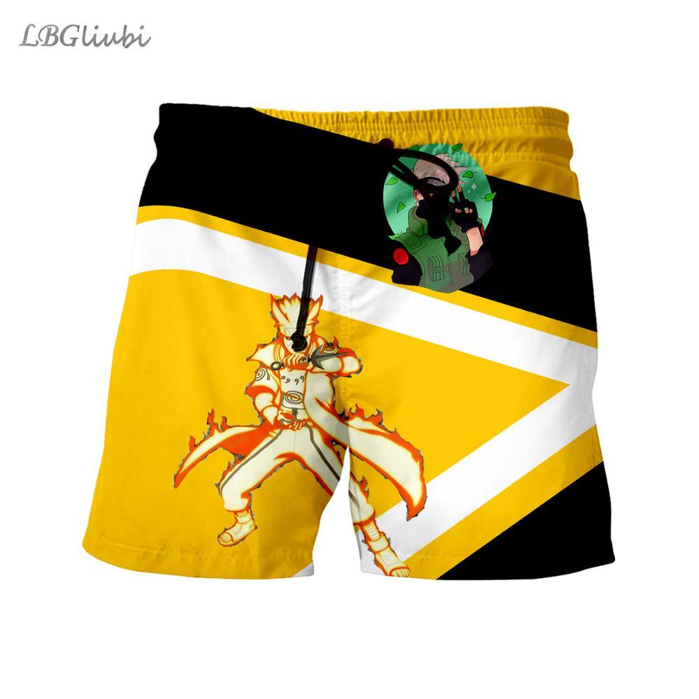 LBG new design, Naruto 3D printed shorts, men and women casual shorts, street Harajuku shorts, outdoor sports shorts