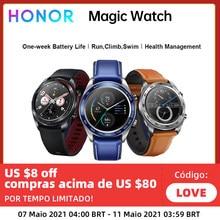 Honor – montre connectée Magic Watch, Version globale, GPS, étanche, moniteur de fréquence cardiaque, de sommeil, fonctionne 7 jours, rappel de messages