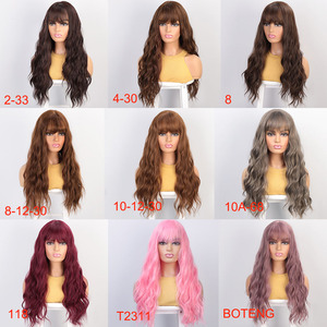 Image 3 - Aisibeauty Womens wig with Bangs Long Wavy Wigs for Women Synthetic Wigs Heat Resistant for African American Cosplay hair