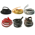 3 мм 8 мм черный Золотой коричневый плоский шнур из искусственной замши корейский бархат кожаный шнур веревка 1 метр для рукоделия