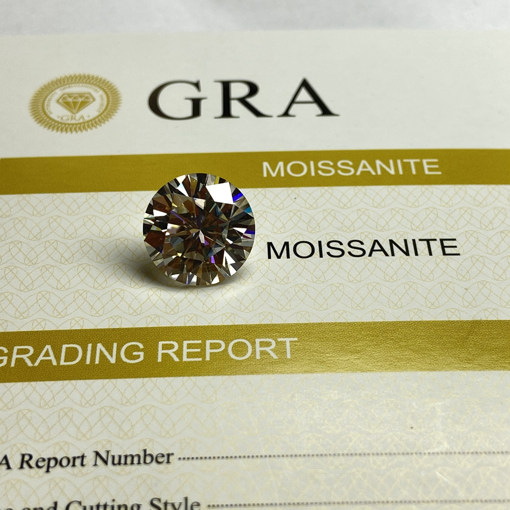9.0mm 3 cts diamond GRA certificate Loose moissanite stone GH Color excellent cut Loose Moissanite gemstone for ring making