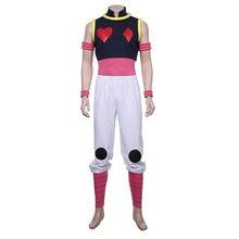 HUNTER x HUNTER Hisoka Cosplay Costume Vest+Pants Outfit Halloween Costume