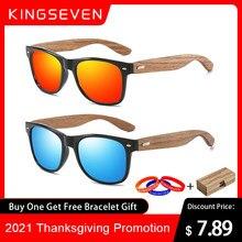 KINGSEVEN Marke 2021 Mode 100% Handgemachte Natürliche Holz Männer Sonnenbrille Polarisierte Sonnenbrille Frauen UV400 Spiegel Brillen