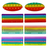 Rainbow Fidget Toys Keyboard Design Silicone Push Bubble Fidget Sensory Toys Stress Relief Toys For Special Needs Kids Adults