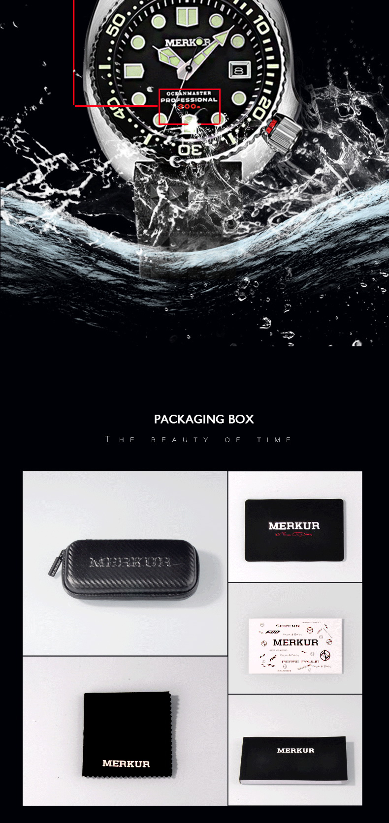 automático esporte mergulho relógio de pulso mecânico