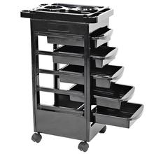 5 Drawers Hair Salon Instrument Storage Cart Adjustable Height Trolley Beauty Tools