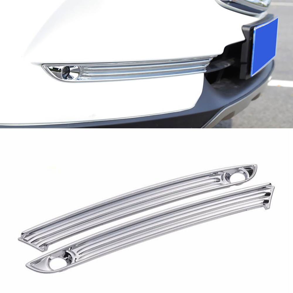 ABS Chrome Front Fog Lamps Cover Trim Fog Lamp Shade Trim for <font><b>Mazda</b></font> <font><b>CX5</b></font> CX 5 CX-5 KF 2017 2018 Car Accessories Styling image