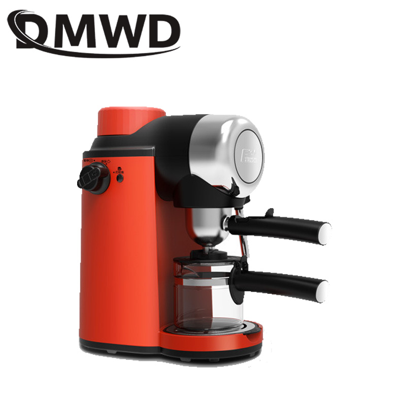 DMWD Electric Italian Espresso Coffee Maker Brewer Automatic Pump Pressure Fancy Coffee Machine Milk Frother Pot Foam Bubble Pot
