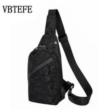 VBTEFE New Multifunction Camouflage Crossbody Bag For Men Casual Shoulder Messen