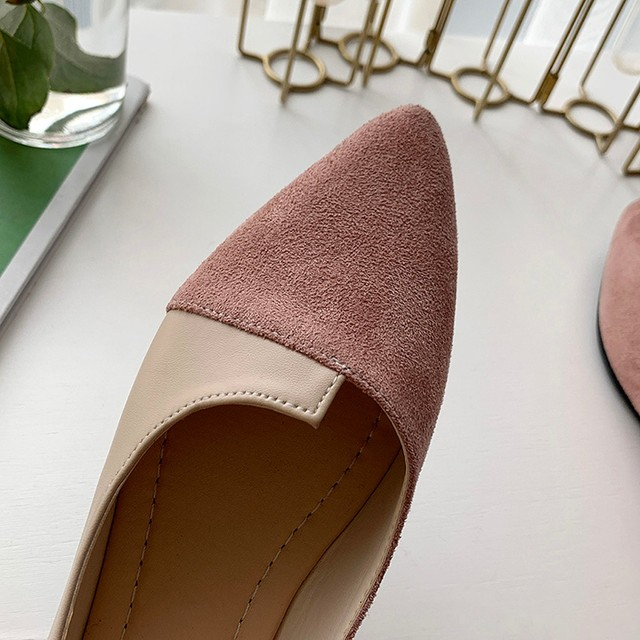 2020 New Flat Shoes Women Sweet Flats Shallow Women Boat Shoes Slip on Ladies Loafers Spring Women Flats Pink Platform Shoes 6