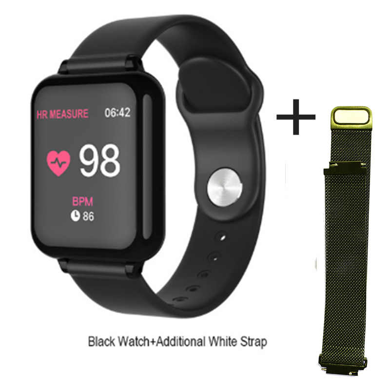 B57 Smartwatch étanche Bluetooth Bracelet moniteur de fréquence cardiaque Bracelet Fitness Tracker montre intelligente B57C sangle câble de charge