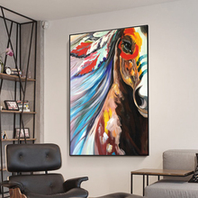 Artist High Quality Handmade Abstract Horse face Oil Paintings on Canvas Modern for Living Room hotel wall decor