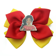 Adogirl Princess Ribbon hair bow for girl Cartoon Big eyes Chicken baby Hairpin Kid Hairgrips Handmade Boutique Hair Accessories