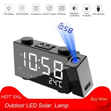 Alarm-Clock Radio Leds-Alarm Projection Digital Usb/batterys with Snooze Powers Supplys