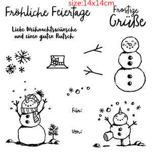 Christmas-Album Snowman Silicone-Rubber German Stamps/handmade Decorative-Production