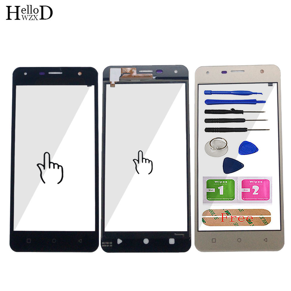Mobile Touch Screen For Prestigio Muze X5 Muze D5 LTE PSP5518 PSP5513 Duo Touch Screen Digitizer Panel Front Glass Sensor Tools