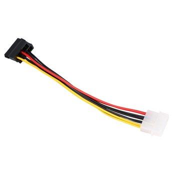 цена на 1pcs Serial ATA SATA 4 Pin IDE Molex to 2 of 15 Pin HDD Power Adapter Cable Hot Worldwide