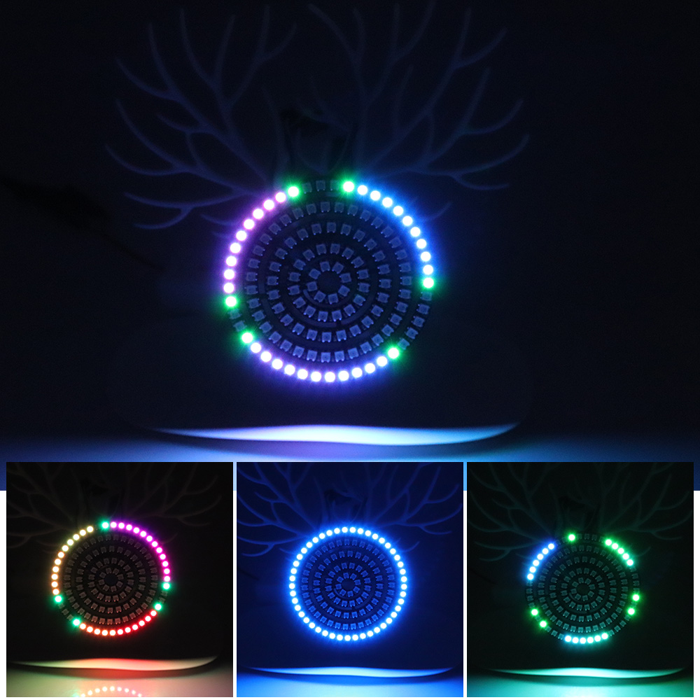 DC5V WS2812B LED Module 5050 RGB Pixel LED Ring 1Bit 8Bit 16Bit 24Bit 35Bit 45Bit WS2812 IC Full-color actuate lights image