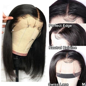 Image 3 - Парики для женщин, фронтальные, с прямыми натуральными волосами, 13 х4