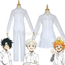 Anime The Promised Neverland Emma Cosplay Costume Shirt Skirt Ray Norman Costume School Uniforms White Shirt Pants Set C46D14
