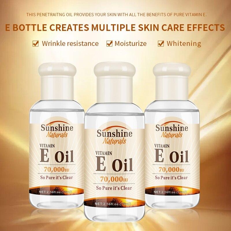 Витамин Е увлажняющее масло для лица, эфирное масло, осветляет веснушки, укрепляет кожу, осветляет цвет кожи, масло