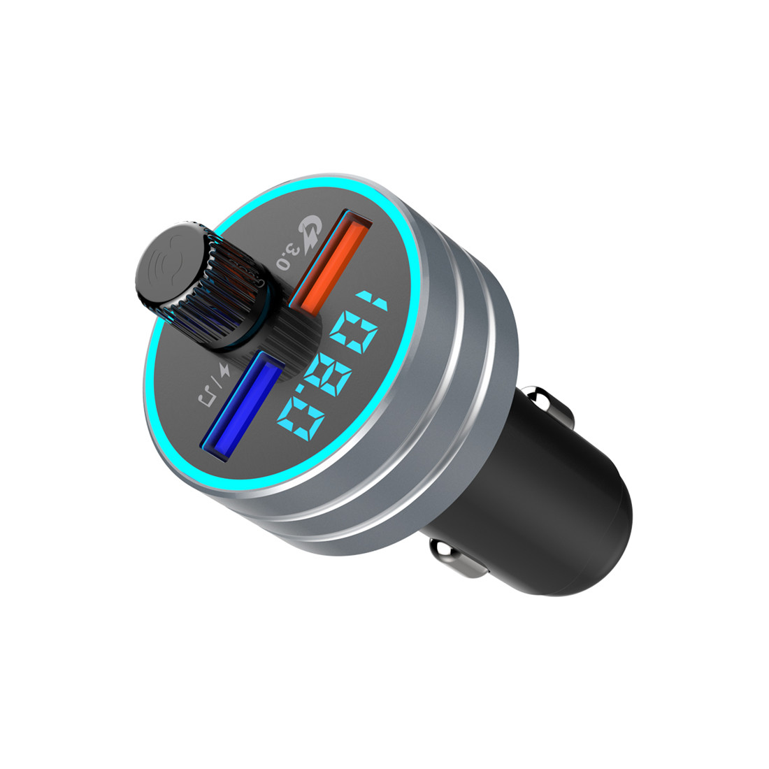 C1 Bluetooth FM Transmitter Bluetooth Adapter <font><b>Auto</b></font> Radio Sender, 2-Port USB <font><b>Ladeger</b></font>? t mit QC3.0 image