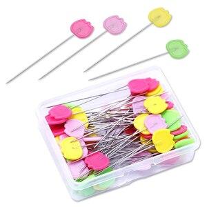 LMDZ-alfileres del remiendo de aguja para costura, alfileres de costura hechos a mano, accesorio para ropa, 50/100 uds./caja