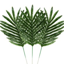 24 Pcs 2 Soorten Tropische Plant Palm Bladeren Kunstmatige Palm Bladeren Faux Bladeren Safari Bladeren Hawaiian Turtle Leaf Luau Party suppl(China)
