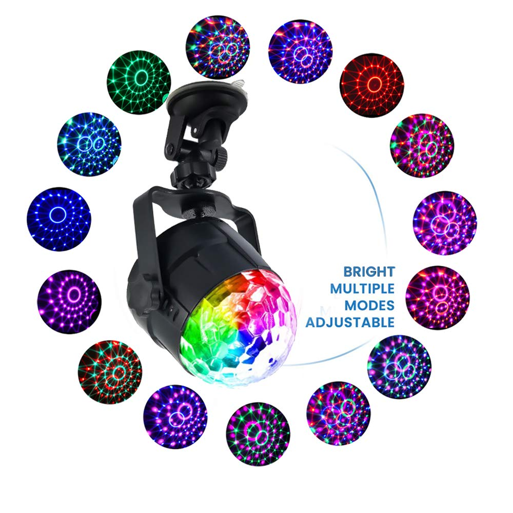 New 15 Colors Modes Crystal Magic Ball Led Stage Lamp Disco Laser Light Party Lights Laser Projector DJ Digital LED RGBP Effects