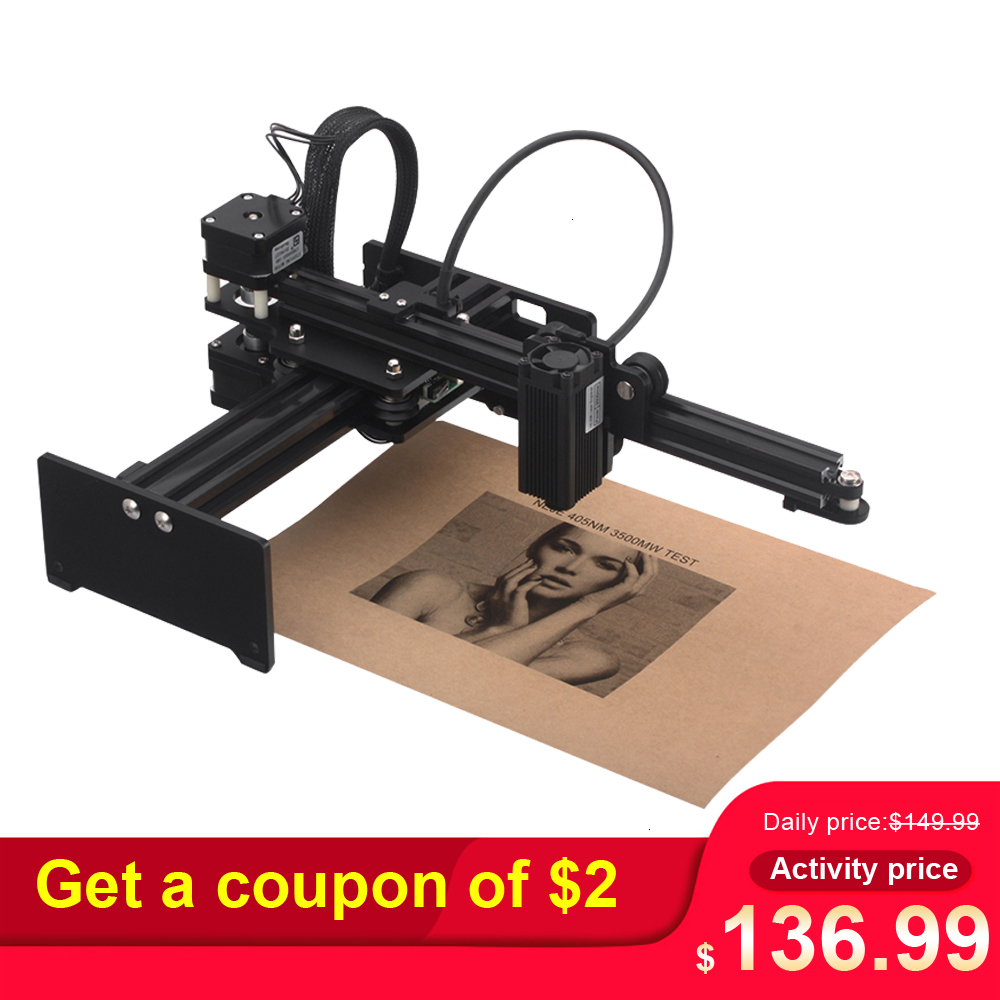 <font><b>20W</b></font>/7000mw/3500MW <font><b>CNC</b></font> <font><b>Laser</b></font> Engraver Portable Engraving Carving Machine Mini DIY <font><b>Laser</b></font> Mark Printer For Metal Engraving image
