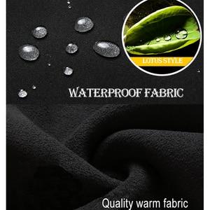 Image 4 - Wasserdicht Tactical Softshell Herren Hosen Fleece Dicke Warme Winter Herbst Hosen Männlichen Samt Jogger Zipper Tasche 2020 Kleidung