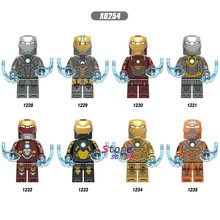 Single Avengers Endgame Iron Man IronMan MK85 MK50 MK30 Mk 16 Mk 18 Mark 21 Mark 28 War Machine Pepper building blocks Kids Toys(China)