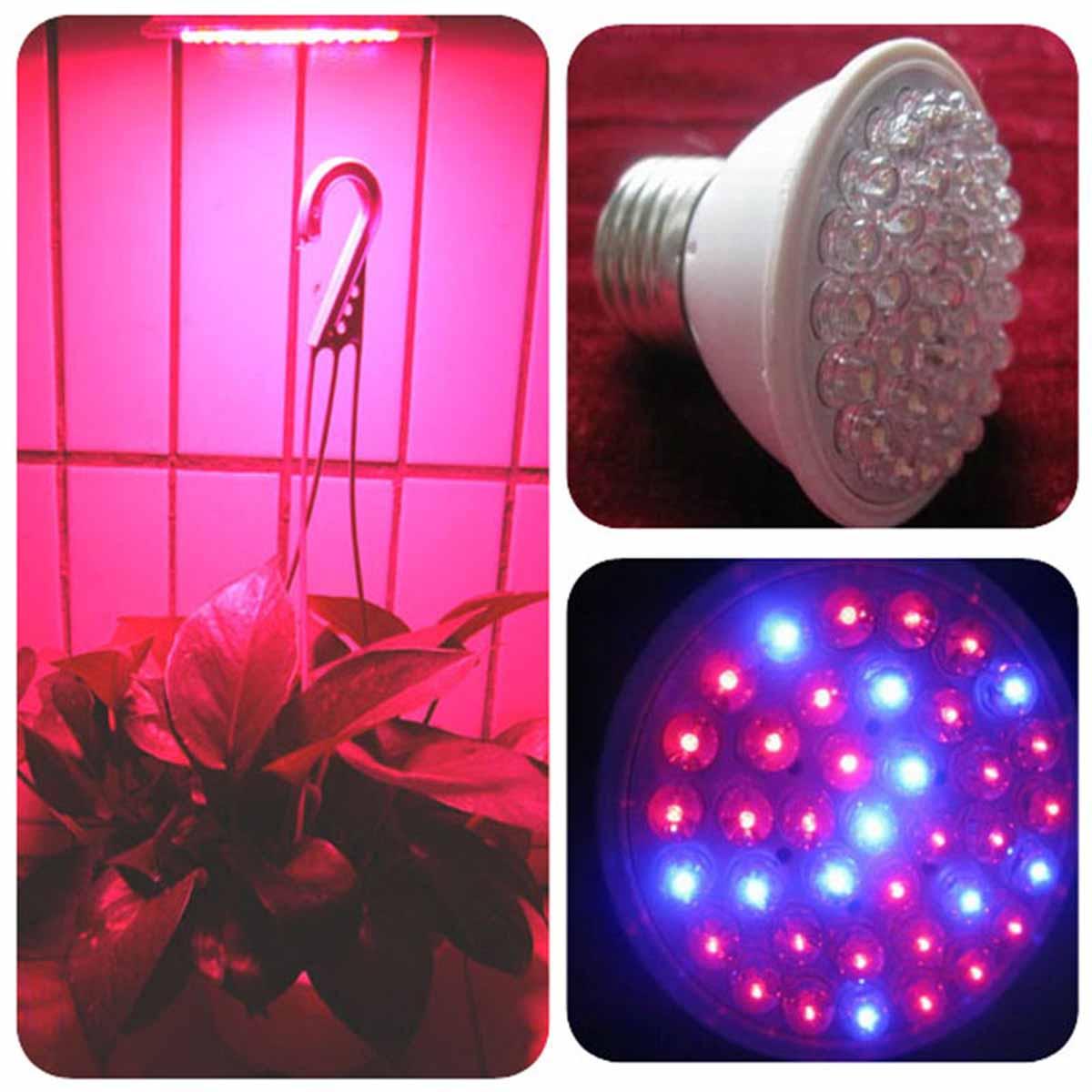 Plant Grow LED Light Bulb Hydroponic Lamp 38/60/80 LEDs 110V AC Plant Growing Lamps Bulb Garden Flowers Plants Help Growing Tool