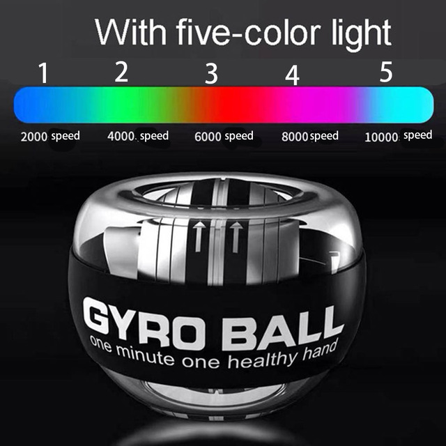 Strengthener Force Power Wrist Ball Gyroscope Spinning Wrist Rotor Gym Hand grip Exerciser Gyro Fitness Ball Muscle Relax 30LBS 1