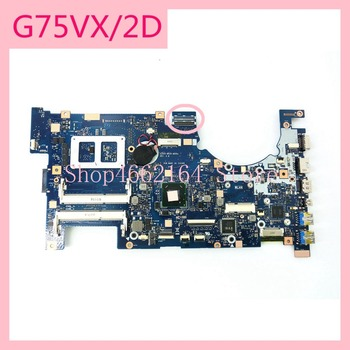G75VX_MB_2D Connect Laptop motherboard REV2.0 For ASUS G75 G75V G75VX 60-NLEMB1101-C04 Notebook mainboard  fully tested graphic card for asus gtx 660 m g75 g75v g75vw gtx660m n13e gs1 lp a1 video vga card free shipping
