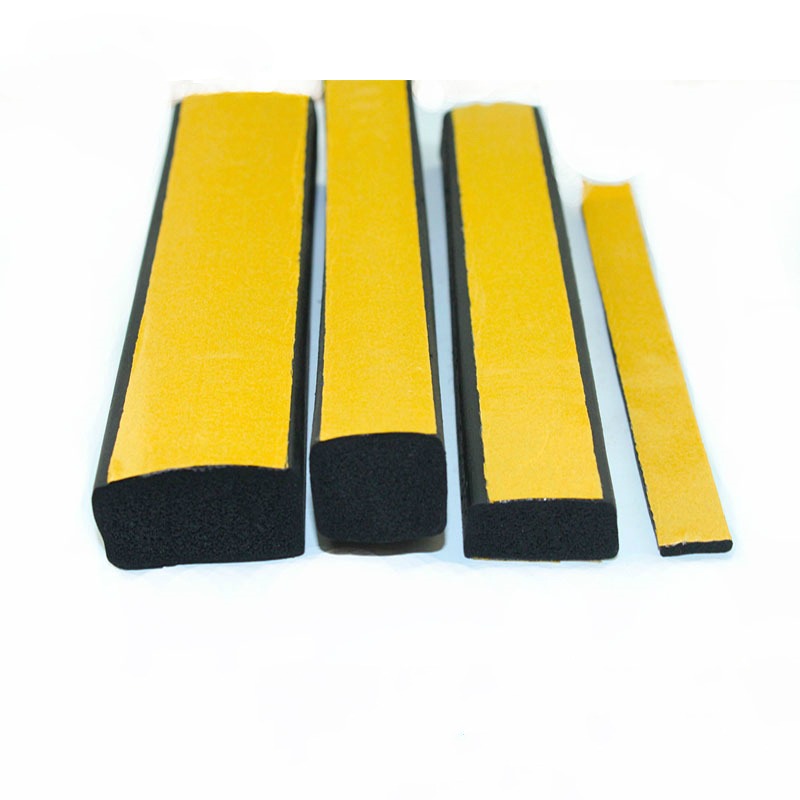 5M 2 3 5 10mm Thickness 10 15 20 25 30 40mm Width EPDM Self Adhesive Foam Sealing Tape Strip EPDM Foaming Square Strip