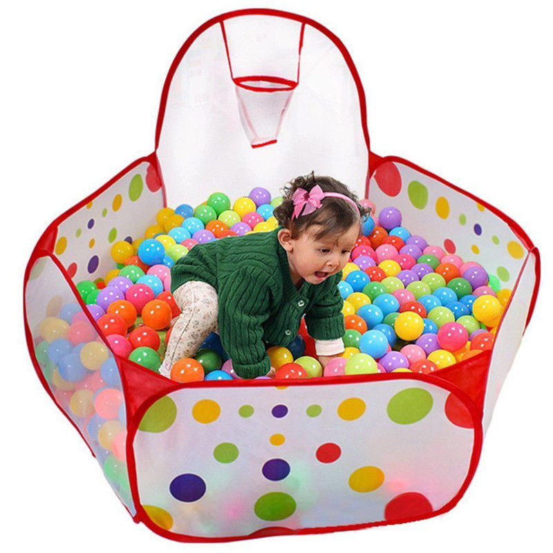 Pudcoco US Stock Folding Playpen Ocean Ball Game Pool Portable Game Play Tent In/Outdoor Playing House Pool Pit Kids Tent Toy