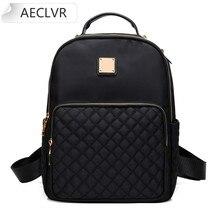 AECLVR Backpack Purse Female Backpack Preppy Style Nylon