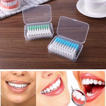 160Pcs/Box Silicagel Interdental Brush Super Soft Interdental Toothbrush Floss Toothpick Clean Teeth Gap Dental Supplies 1