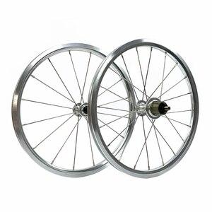Image 5 - SILVEROCK, внешнее 7 скоростное колесо из сплава, 16 дюймов, 1 3/8 дюйма, 349 дюйма, ободной тормоз, 14/21H, 16H, 20H для Бромптона, 3, 60, складной велосипед, колесная пара на заказ