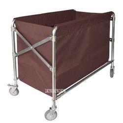 BCC01 obsługa pokoju składany wózek sklepowy ze stali nierdzewnej hotelu czysty worek do przechowywania samochodu brudne ubrania wózek prac związanych z czyszczeniem składany worek do przechowywania samochodu