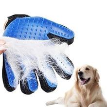 Cão de estimação grooming luva de silicone gatos escova pente desmancha luvas de cabelo cães banho suprimentos de limpeza pentes animais luvas de massagem