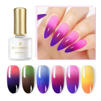 BORN PRETTY 6ML/10ML Thermal Nail Gel Polish 3 in 1 Temperature Color Changing Nail Art Soak Off UV Gel Varnish Long Lasting Gel недорого
