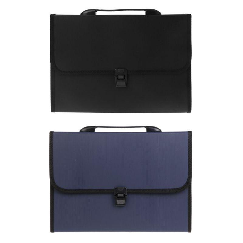 A4 Business Document Storage Expandable File Folder Office Waterproof Briefcase