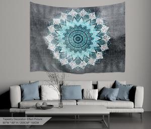 Image 4 - PROCIDA Mandala Tapeçaria Tapeçaria de Arte Tecido de Poliéster Padrão Tema, Decoração Da Parede para o quarto de Dormitório, Quarto, Prego incluído